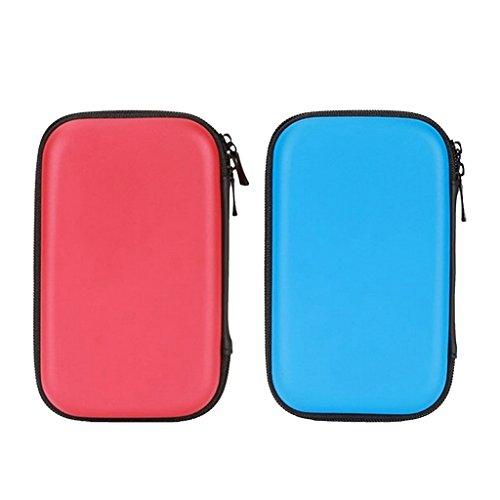 non-brand 2Pieces EVA Anti-Shock Travel Organizer Bag Case Electronics Cables de Azul...