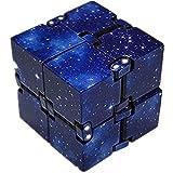 Hpory Infinity Cube, Cube Antistress Infinite Decompression Cube Galaxy Mini ABS Infinity Cube per alleviare Lo Stress Agitarsi Anti ansia Stress per Bambini Adulti