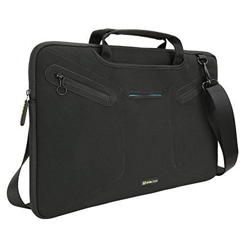 Evecase Fully Padded Multi-Functional Carrying Messenger Bag with Handle and Shoulder Strap for Microsoft New Surface Pro 2017 / Surface Pro 4 / Surface Pro 3 - Black