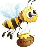 wandmotiv24 Wandsticker Honig-Biene, Honigtopf, Insekten,