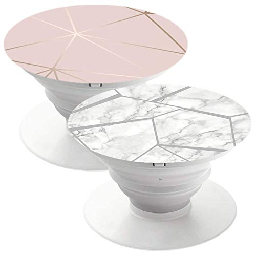 2 Pack Phone Holder Suitable for almost Smartphones and Tablets Rose Gold Marble