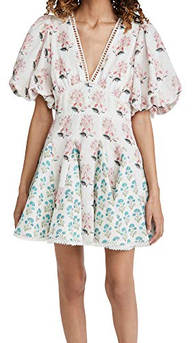 Hemant and Nandita Women's Short Dress, White, X-Small