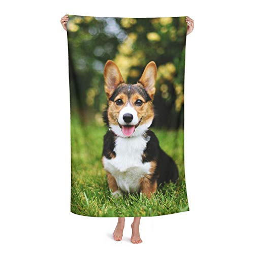 Ultimate Cuteness Dog Microfibre Beach Towel Extra Large Sand Free Lightweight & Quick Dry Microfibre Towel And Travel Bag