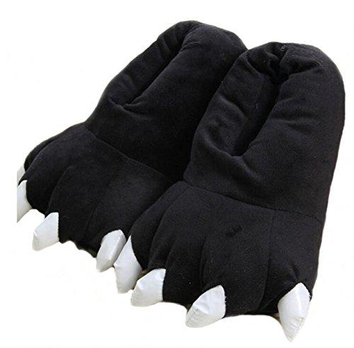 YELAN Zapatillas de casa de Felpa Suave Unisex Animal Disfraz de Pata de Garra (S (tamaño del niño...