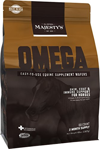 Majesty's Omega Wafers - Skin & Coat therapy for horses - 60 count bag