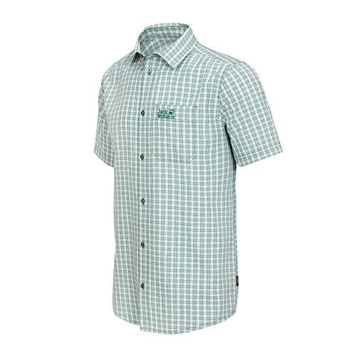 Jack Wolfskin Herren EL Dorado Hemd, Emerald Green Checks, XXL, 1401053