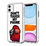 iPhone 11 Case, Unique Design, Drop Resistant and Shock Resistant TPU Clear Case (Among-us)