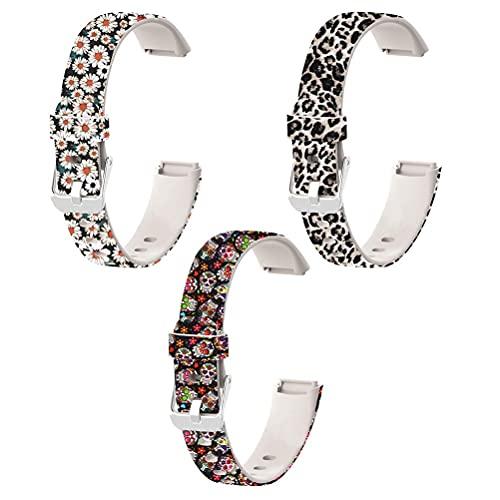 Correa de repuesto, reloj inteligente de silicona suave ajustable, reloj inteligente, correa de repuesto, pulsera, correas de reloj para Fitbit Luxe Sport Fitness Tracker, pulsera de reloj inteligente