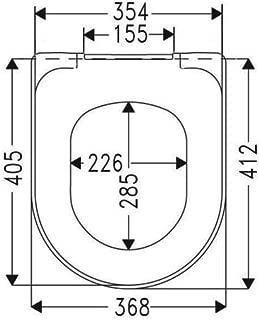 9M406101 Villeroy /& Boch Bisagras del asiento del WC O.NOVO de acero
