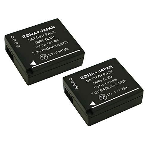 【2個セット】PANASONIC パナソニック 対応 DMW-BLE9 DMW-BLG10 互換 バッテリー DMC-GF5 GF6 GX7 対応【ロワジャパンPSEマーク付】