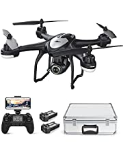Potensic ドローン GPS 搭載 高度・座標ホバリング 200g未満 1080P 120°広角HDカメラ付き フォローミーモード オートリターンモード WIFIリアタイム 国内認証済み T18全能版 バッテリー2個 収納ボックス付き
