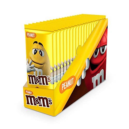 M&M's Tabletas de Chocolate con Leche con Deliciosos M&M's de Cacahuete (Pack de 16 tabletas x 165 g)