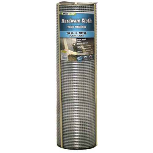 YARDGARD 308241B 36-Inch-by-100-Foot 1/4-Inch Mesh 23-Gauge Hardware Cloth