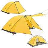 KAZOO 2 Person Camping Tent Outdoor Waterproof Family Large Tents 2 People Easy Setup Tent with Porch Double Layer
