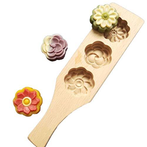 luosh Stampo per Torta di Legno in Legno Strumento per Dolci per Pasticceria per Realizzare stampi per Torta di Fagioli Mung