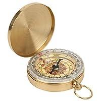 軽量ミニ軽量メンタルコンパス耐久性のあるポータブルヴィンテージレトロコンパス頑丈な安定性キャンプ、ハイキング、旅行などにポータブル(Pocket watch compass)
