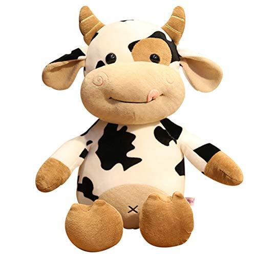 Plüschtier Kuh, 3D Plüschtiere Spielzeug, Kuh Cuddle Toys Stofftier Plüschtier Kuscheltier Cartoon Kühe Kissen für Baby Jungen Mädchen Kinder