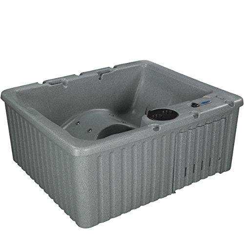 Essential Hot Tubs 14-Jet Newport Hot Tub, Seats 3-4, Grey Granite