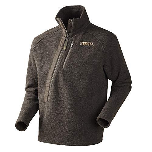 Harkila bruine jachtpullover van katoen voor heren Nite Shadow Brown - duurzame wollen trui voor de jacht