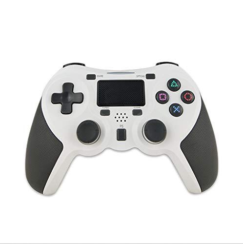 Rzj-njw Control para Juegos de PS4 PS4 Wireless Gamepad vibración Dual para Playstation 4 Joystick Bluetooth Joypad,Blanco