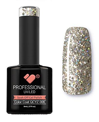 Vernis à ongles gel VB Line Diamond White Silver Glitter QCYZ-006