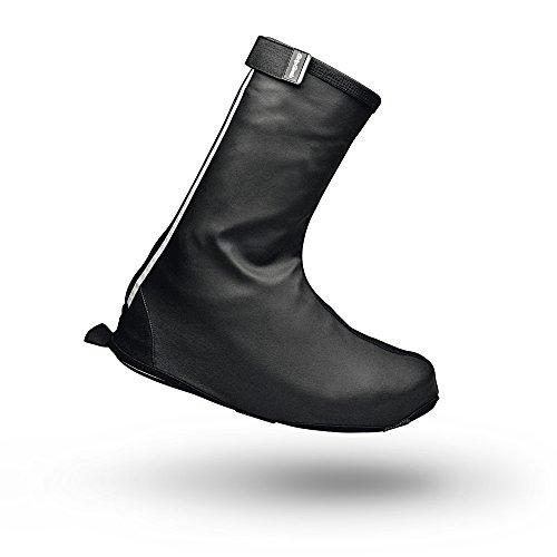 GripGrab DryFoot Regenschutz Fahrrad Schuhüberzieher für Alltags Schuhe - Gamaschen Gaiter Überschuhe inkl. Aufbewahrungsbeutel, schwarz, XL (44-45)