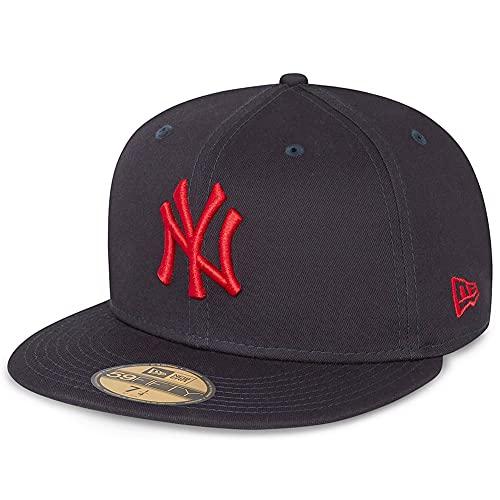 New Era - Gorra ajustada MLB New York Yankees League Essential 59Fifty - Azul azul 7 3/8 (58.7cm)