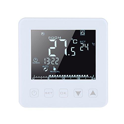 GOTOTOP Termostato Digital programable 16A Pantalla LCD Grande, Control Remoto WiFi Termostato de calefacción eléctrico Controlador de Temperatura Ambiente Luz de Fondo Blanca