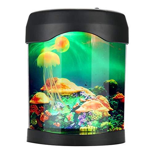 Tomantery Turtle Aquarium Light Mini Fish Tank para el hogar