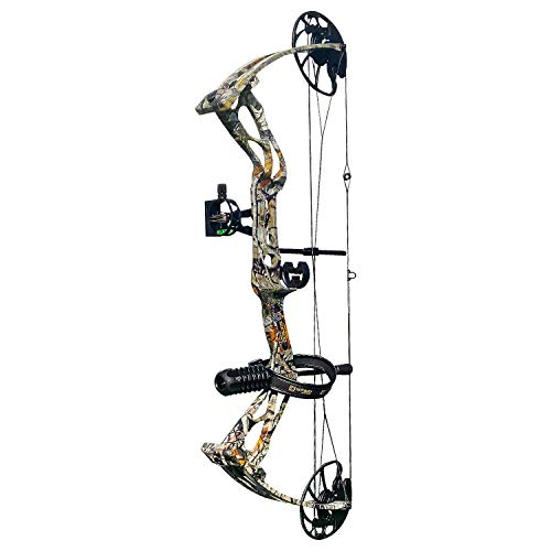 sanlida Archery Dragon X8 Hunting Archery Compound Bow Package/Limbs Made in USA/18-31 Draw Length/0-70Lbs Draw Weight/Up to 310FPS/1 Year Warranty (Camo)