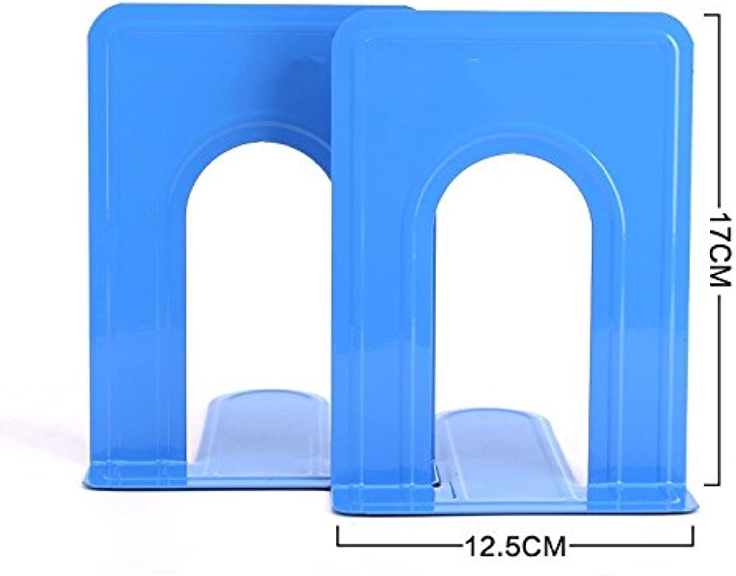 STJK BMJW Office Book color Metal Bookshelf Book Book By Student Stati1Ry Baffle Bookends 6.5 Inch bluee
