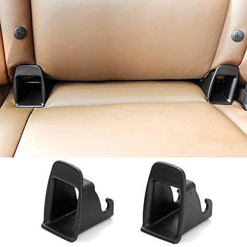Carrfan 2 Piezas Asiento Infantil para Automóvil Interfaz ISOFIX Hebilla Guía Fija Ranura Conector de Soporte del Cinturón de Seguridad