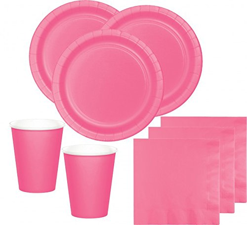 52 Teile Party Deko Set Bonbon Rosa für 16 Personen