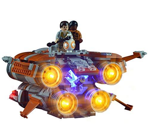 Kit De Iluminación Led para (Star Wars Los Jakku Quad Saltador) Compatible con Ladrillos De Construcción Lego Modelo 75178, Juego De Legos No Incluido