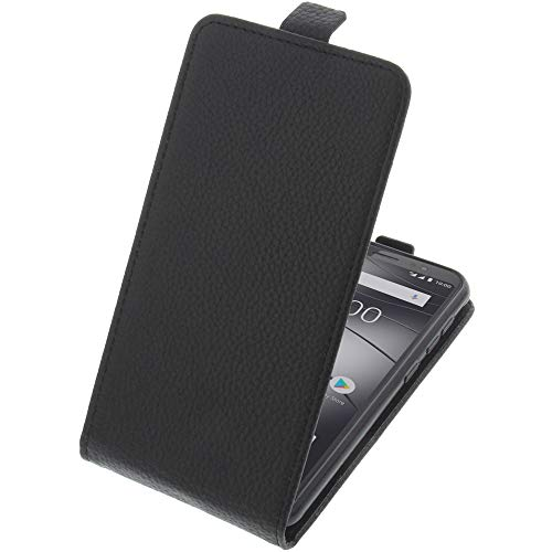 foto-kontor Tasche für Gigaset GS185 Smartphone Flipstyle Schutz Hülle schwarz