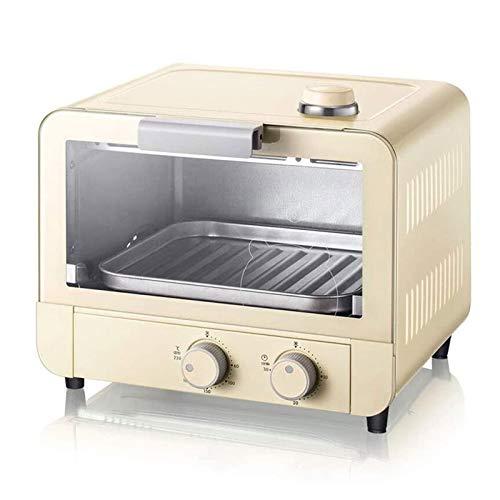 Adesign Forno Elettrico, Dimensioni compatte, Facile da Controllare con Timer-Bake-Broil-Setting-Toast, 1200 W Multifunzionale Giallo Giallo Piccolo 15L 15L Forno Automatico