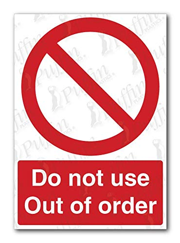 Schild Do Not Use Out of Order