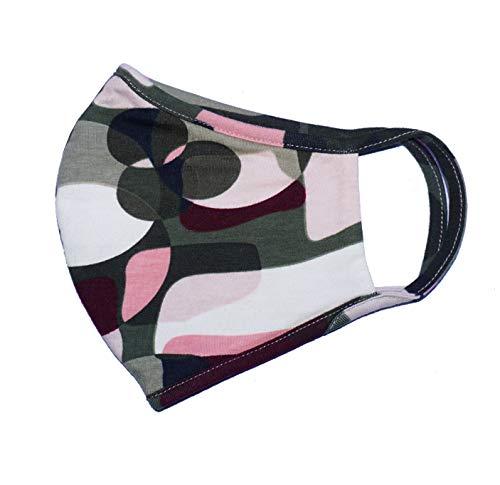 Weri Spezials Gesichtsmaske Mundmaske Maske, Bandana,Multifunktionstuch, Staubmaske - Mund-,Atem-,Staub-,Luft-,Gesichttuch,Mund-und Nase- Maske. Für Wandern Sport und Freizeit (M, Military)