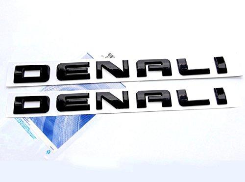 1x Original glossy Red Denali HD Nameplate EMBLEM for GM Yukon Sierra Terrain