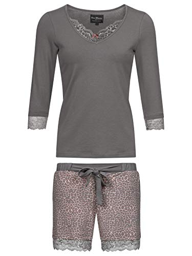 Vive Maria Funky Leo Pyjama Short Darkgrey/Leo, Größe:S