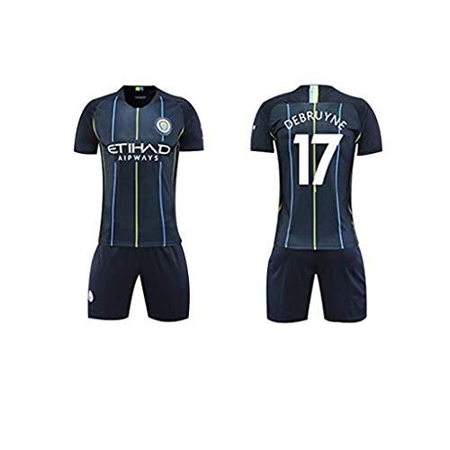 Fußballtrikot für Jungen aus Manchester City - 17 Fußballuniformen und -Shorts von Kevin De Bruyne, großartige Materialien und schnell trocknend, Fans-B-24