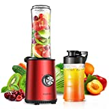 HadinEEon Smoothie Blender, 3 Speeds Adjustable Personal Blender for Shakes and...