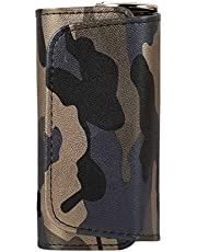 DrafTor E - Portasigarette in pelle PU per I-Q-O-S 3.0 con clip o fibbia (solo portafoglio) (multicolore 1)