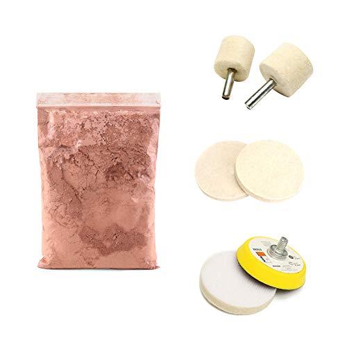 Asdomo - Juego de pulidor de óxido de cerio (7 unidades, 70 g, rueda de 2 pulgadas)