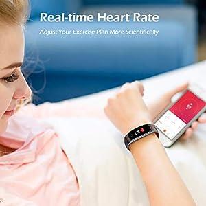 LATEC Pulsera Actividad [Última Versión], Pulsera de Actividad Inteligente Pantalla Color Reloj con Pulsómetro Impermeable IP68 Podómetroómetro