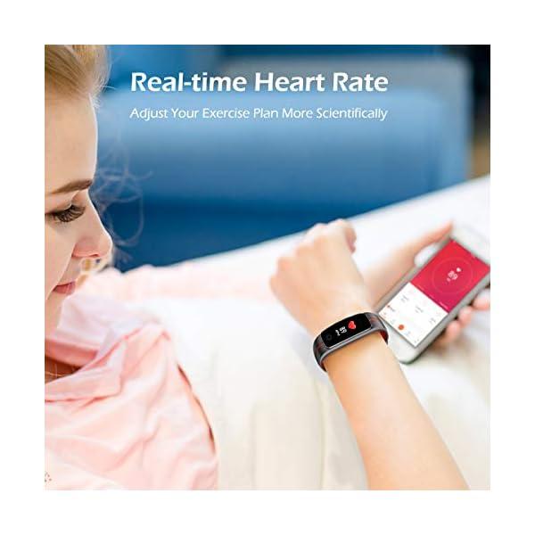 LATEC Pulsera Actividad [Última Versión], Pulsera de Actividad Inteligente Pantalla Color Reloj con Pulsómetro… 6