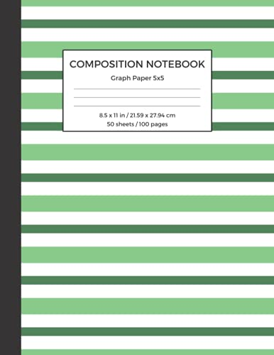 Composition Notebook Graph Paper 5x5: St. Patrick's Day Themed Cover, 1 Subject, Coordinate and Grid Paper Notebook