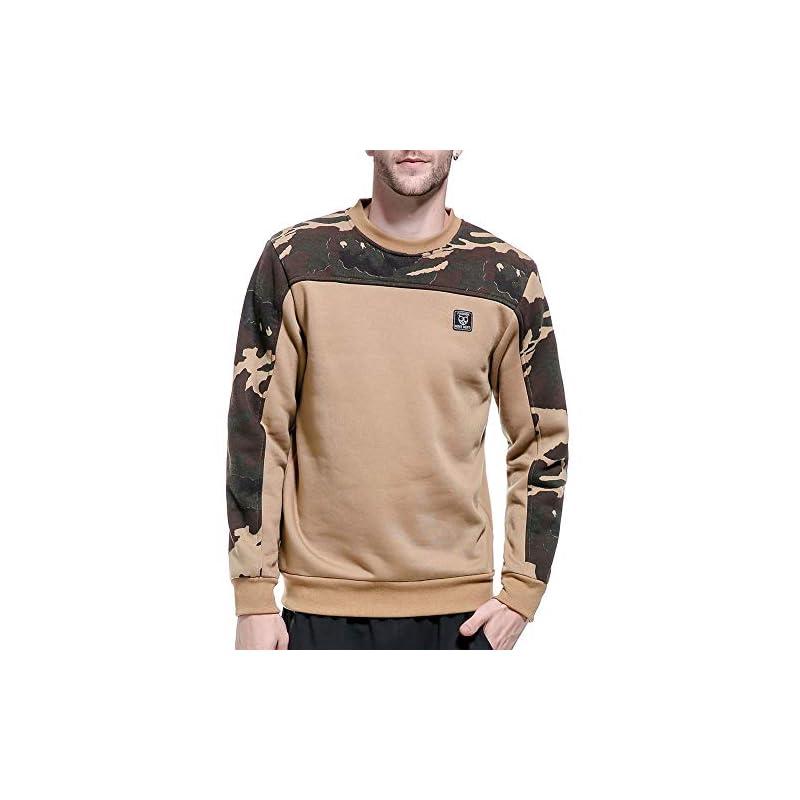 LBL Mens Originals Camo Sweatshirt Jumper Sweater Pullover Work Casual Leisure Top