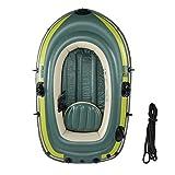 Greensen - Barco hinchable, portátil de 2 personas, barco de pesca plegable grueso por PVC, carga de hasta 90 kg
