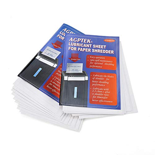 Discover Bargain AGPtEK Cross-Cut Paper Shredder Sharpening Lubricant Sheets (Pack of 24)